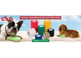Vendas Autoadherentes Para Mascotas  5cm x 4,5mts. No Masticables! Power